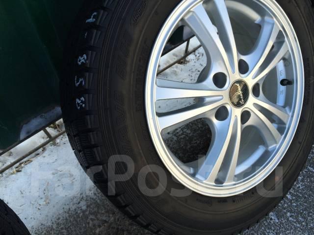 Красивые Euro Speed R16 5*114.3+японская зима Goodyear 205/65/16. 6.5x16 5x114.30 ET42 ЦО 73,0мм.