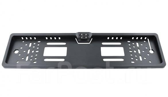 Рамка под госномер с камерой заднего вида Rolsen RRV-200 черная. Под заказ