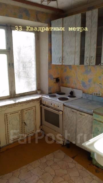 1-комнатная, улица Адмирала Юмашева 16. Баляева, агентство, 32 кв.м. Кухня