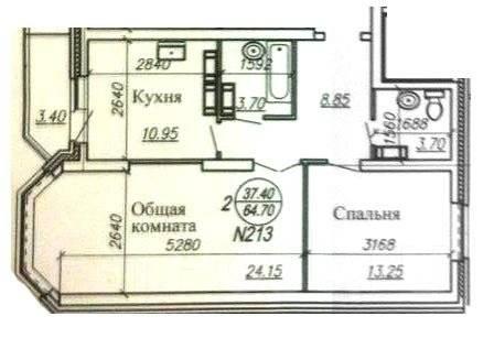 2-комнатная, улица Советская 45. Кировский, агентство, 66 кв.м.