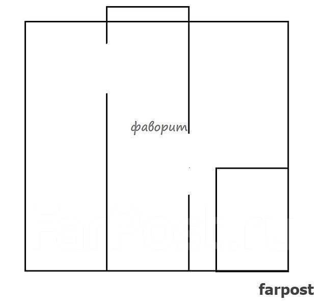 2-комнатная, улица Кутузова 8а. Вторая речка, 48 кв.м. План квартиры