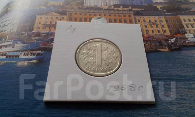 Серебро! Финляндия. 1 марка 1968 года в сохране.
