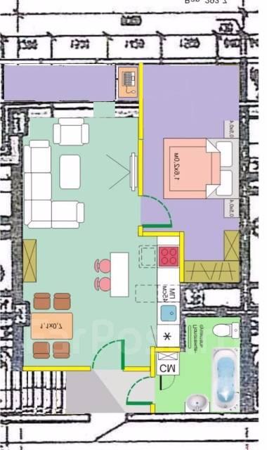 2-комнатная, улица Соколова 86/1. агентство, 50 кв.м.