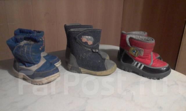 Детские сапожки и пакет Женской обуви