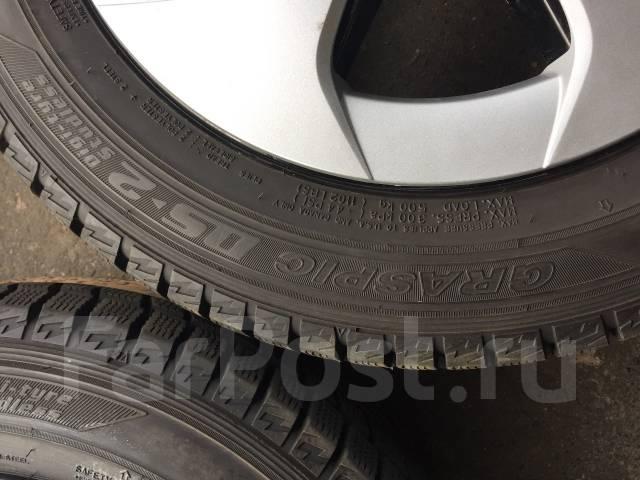 Dunlop Graspic DS2. Зимние, без шипов, 2007 год, износ: 5%, 4 шт