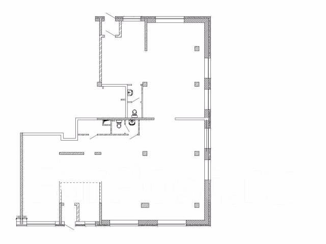 Сдается помещение по ул. Чкалова 5 , площадью 225 м2. 225 кв.м., улица Чкалова 5, р-н Вторая речка. План помещения