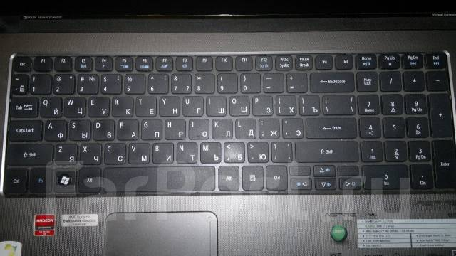 """Acer Aspire 7750G. 17.3"""", 2,3ГГц, ОЗУ 4096 Мб, диск 500 Гб, WiFi, Bluetooth, аккумулятор на 5 ч."""