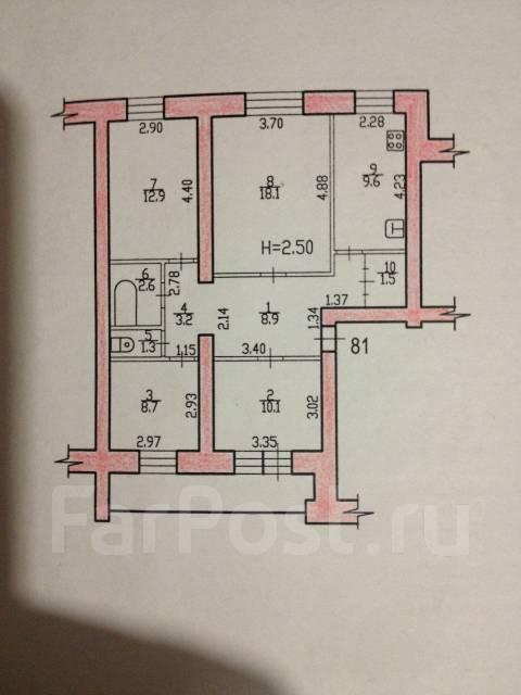 4-комнатная, улица Краснодарская 32. Железнодорожный, агентство, 76 кв.м.