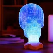 """Ночник LED-светильник 3D Лампа """"Череп"""""""