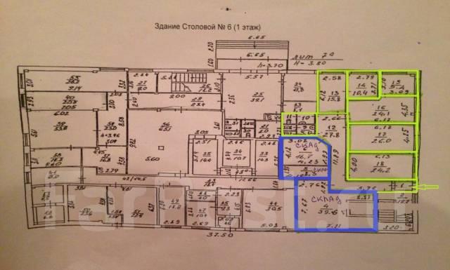 Предлагаются в аренду офисы в Центре от 11 до 130 кв. м. 11 кв.м., улица Стрельникова 9/16, р-н Эгершельд. План помещения