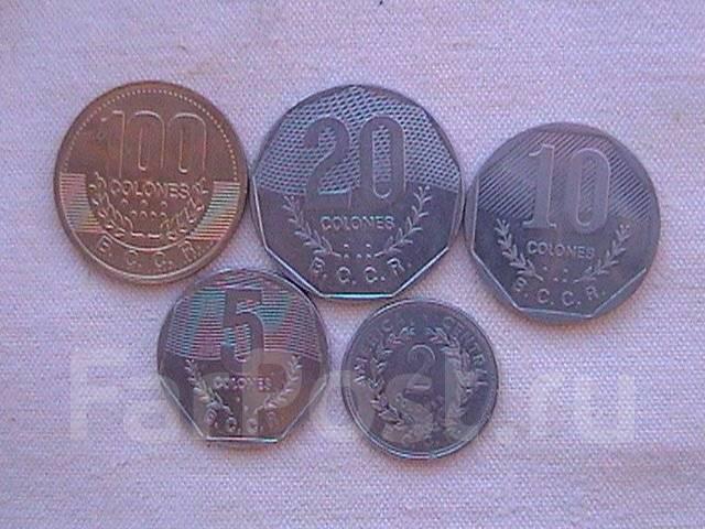 Коста-Рика , набор 5-ть монет .
