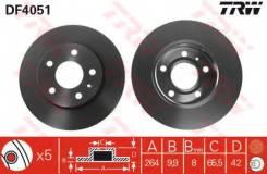 Диск тормозной задний OPEL ASTRA G, H DF4051