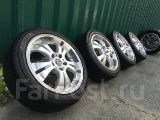 Крутые колеса Weds Farmas R17+жирное лето 215/45/17, отправка. 7.0x17 5x114.30 ET53 ЦО 73,0мм.