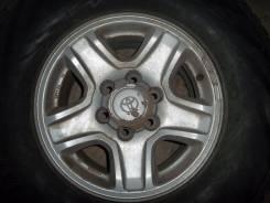 Toyota Land Cruiser Prado. 7.0x16, 6x139.70, ET15, ЦО 107,1мм.
