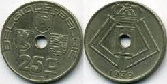 Бельгия 25 сантимов 1939 год (иностранные монеты)