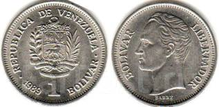 Венесуэла 1 боливар 1989 год