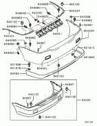 Бампер задний (оригинальный) Mitsubishi Lancer 9 в Ростове-на-Дону