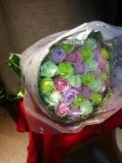 Букет из мыла ручной работы 33 роз (s400)