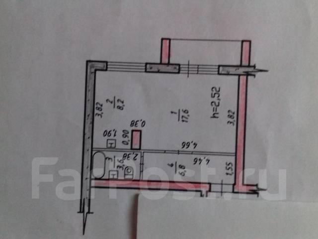 1-комнатная, район 84 школы,Трехгорная 61г. Краснофлотский, агентство, 36 кв.м.