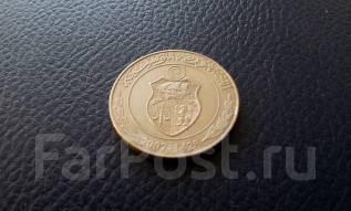 Тунис. 1 динар 2007 года. F. A. O. Большая красивая монета!
