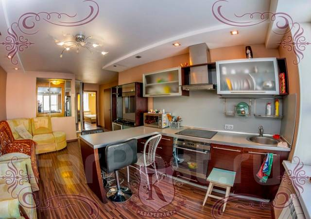 3-комнатная, улица Ватутина 4а. 64, 71 микрорайоны, агентство, 62 кв.м. Кухня
