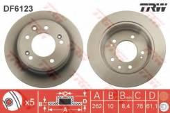 Диск тормозной задний HYUNDAI I30 (FD), IX35, KIA CEE'D I-II, SPORTAGE (SL) DF6123