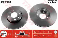 Диск тормозной передний NISSAN MICRA K12, NOTE E11, RENAULT CLIO III, MEGANE II DF4364