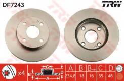 Диск тормозной передний MAZDA 323P (BA) 1.3-16V DF7243