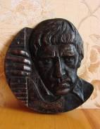 Владимир Высоцкий - барельеф, металл, СССР