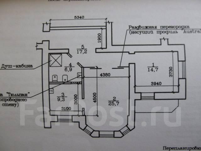 2-комнатная, улица Ленинградская 51. Центральный, агентство, 75 кв.м.