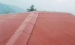 Кровельные работы. Крыша. Монтаж ондулин, метал, наплавляемая кровля.