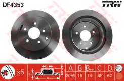 Диск тормозной задний INFINITI EX, FX, G, M, NISSAN MURANO (Z50, Z51) DF4353