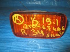Повторитель в бампер правый Nissan Skyline HR34