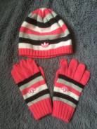 Шапка и перчатки. 55, 56, 57