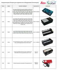 Leica Аккумуляторные батареи для тахеометров, з/у, кабели. Под заказ