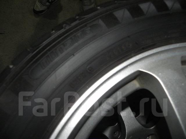 Продам комплект колес на очень жирной летней резине. 7.0x17 5x114.30 ET38