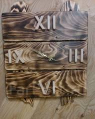 Часы из натурального дерева ручной работы. Под заказ