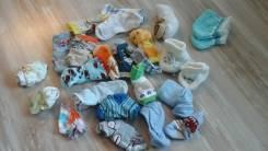 Носочки для новорожденного и чуть старше одним лотом. Рост: 60-68, 68-74 см