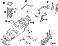 Сальник топливного насоса. Ford: P100, Escort, Orion, Scorpio, Sierra, Granada Infiniti QX56, JA60 Nissan Titan Nissan Armada, WA60 Двигатель VK56DE