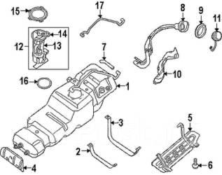 Сальник топливного насоса. Infiniti QX56, JA60 Nissan Armada, TA60 Nissan Titan, A60, A61 Двигатели: VK56DE, CEV8D1, VK56VD