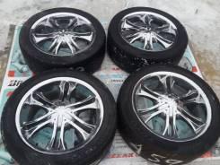 Комплект красивых хром колес на Land Cruser и тд R20 6x139.7 из Японии. 9.0x20 6x139.70 ET18