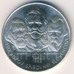 Словакия, 200 крон серебро 150 лет словацкому языку