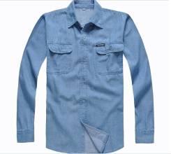 Рубашки джинсовые. 52