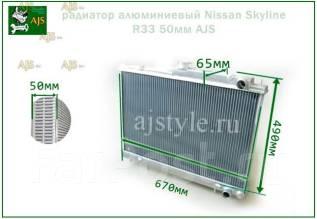 Радиатор охлаждения двигателя. Nissan Laurel, GCC34, GNC34, GC34 Nissan Skyline, ENR33, ER33, ECR33 Двигатели: RB25DE, RB25DET