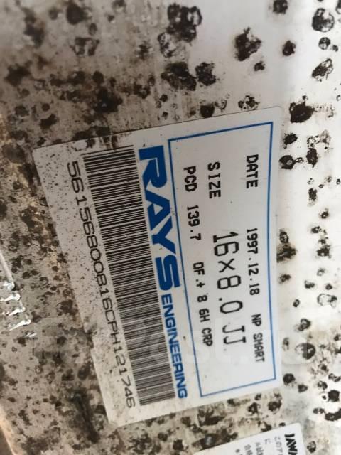 RAYS. 8.0x16, 6x139.70, ET8