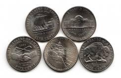 Набор = 5 центов США - 200лет освоения Дикого Запада