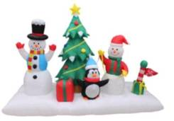Декор праздничный фигура надувная новогодняя сцена