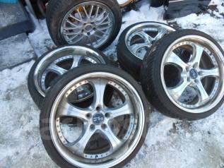 Комплект колес R19 разноширокое!. 9.5/8.5x19 5x114.30 ET34/32