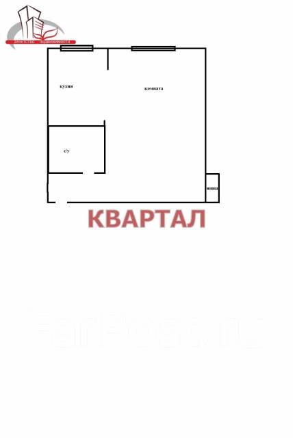 1-комнатная, улица Борисенко 68. Борисенко, агентство, 34 кв.м. План квартиры