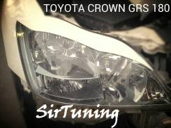 Накладка на фару. Toyota Crown, GRS188, GRS180, GRS181, GRS182, UZS186, GRS183, UZS187, GRS184. Под заказ